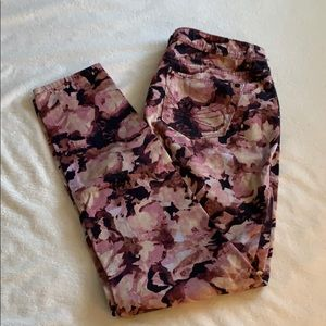 Vera Wang floral jeans, size 8